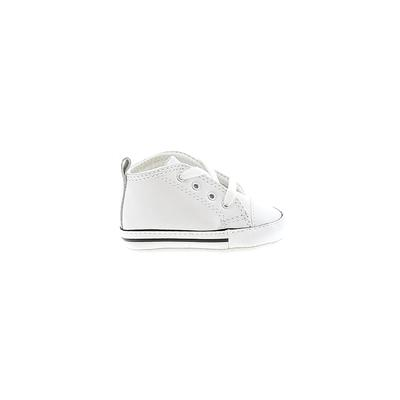 Converse Booties: White Solid Shoes - Size 1