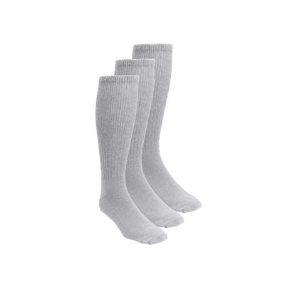 Diabetic Over-the-Calf Extra Wide Socks 3-Pack by KingSize in Grey (Size 2XL)