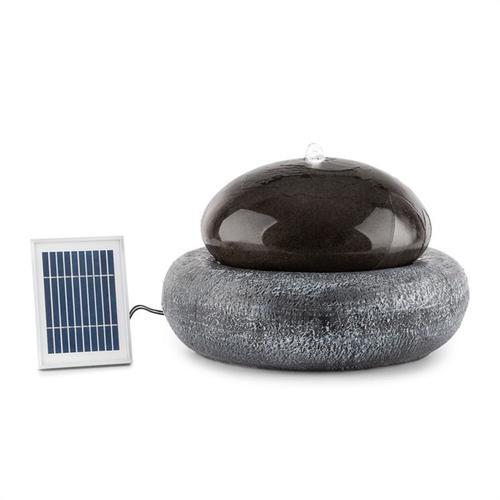 Blumfeldt Ocean Planet Solarbrunnen 200l/h Solarpanel 2W Akku LED Polyresin
