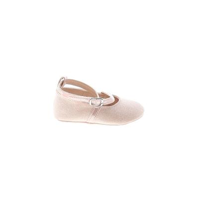 The Children's Place - The Children's Place Flats: Pink Solid Shoes - Size 6-12 Month