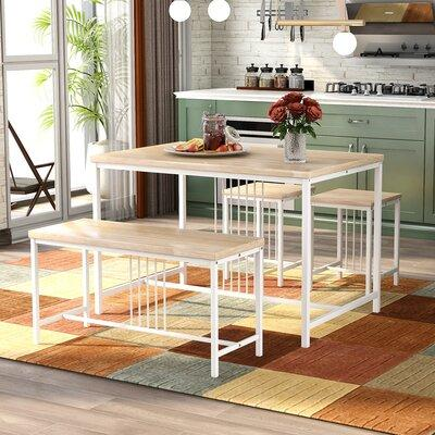 Metal Frame Wood Kitchen Table W, Wayfair Dining Room Cabinets