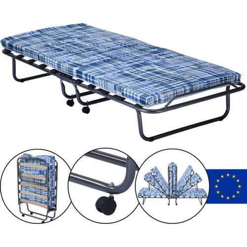 Gästebett Basic mit Matratze 80 x 190 x 6 cm klappbares Bett