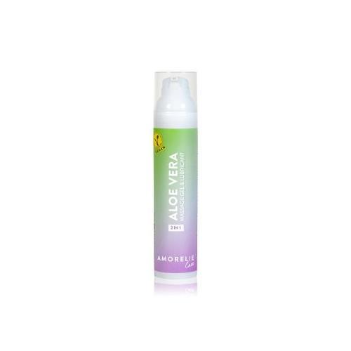 Amorelie Care 2 in 1 Massage und Gleitgel - Aloe Vera Massageöl 100 ml