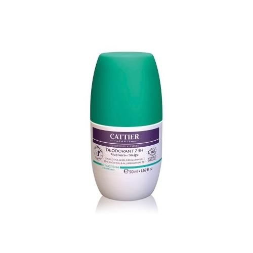 Cattier Körperpflege Aloe Vera - Salbei Deodorant Roll-On 50 ml