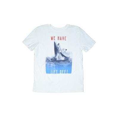 Gap Kids - Gap Kids Short Sleeve T-Shirt: White Solid Tops - Size 10