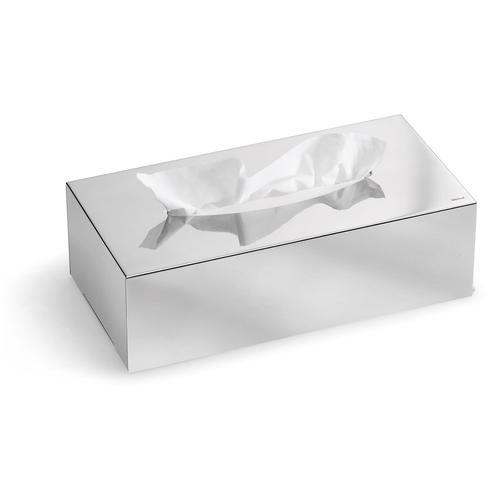 BLOMUS Papiertuchbox Kleenex-Box -NEXIO- poliert silberfarben Badmöbel