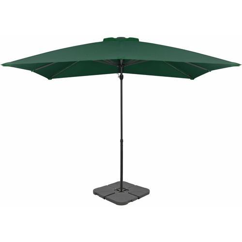 Abcrital - Sonnenschirm mit Schirmständer Grün