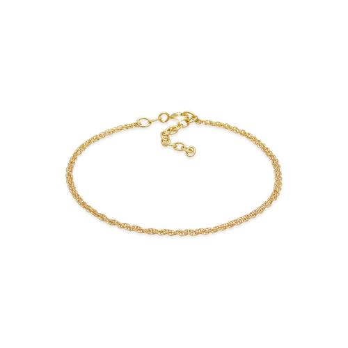 Armband Gliederkette Rund Fein Gedreht 925 Silber Elli Gold