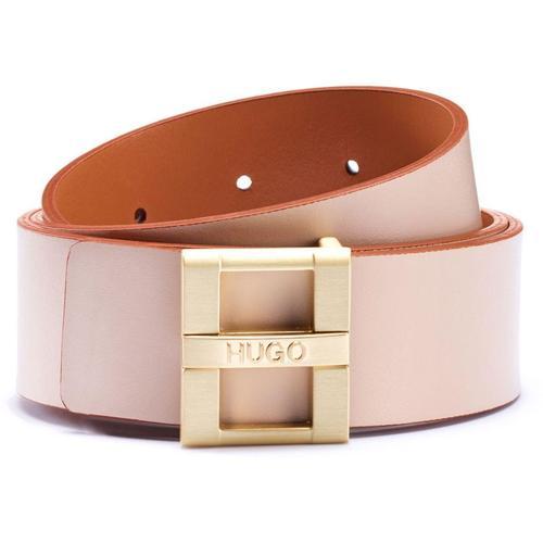HUGO Gürtel aus Glattleder mit Logo-Dornschließe