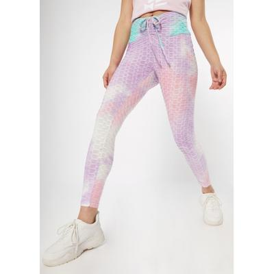Rue21 Womens Cotton Candy Tie Dye Honeycomb V Front Leggings - Size Xs