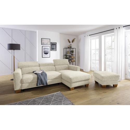Home affaire Ecksofa Steve Premium beige Wohnzimmer Affaire