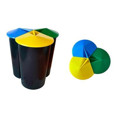 Poubelle recyclage 3 compartimen...