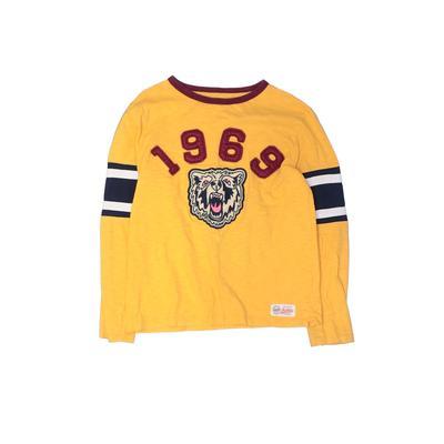 Gap Kids - Gap Kids Long Sleeve T-Shirt: Yellow Solid Tops - Size X-Large