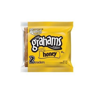Keebler Grahams Honey Crackers - Individually Wrapped - Honey - 0.49 oz - 200 / Carton - KEB38406
