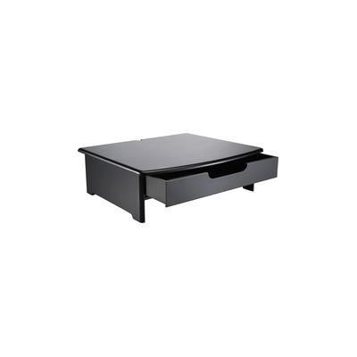 """Rolodex Wood Tone Monitor Stands - 35 lb Load Capacity - 4.8"""" Height x 15"""" Width x 13.3"""" Depth - Desktop - Wood - Black - ROL82430"""