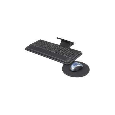 """""""Safco Swivel Mouse Tray Adjustable Keyboard Platform - 18.5"""""""" Width x 9.5"""""""" Depth - Black - 1 - SAF2135BL"""""""