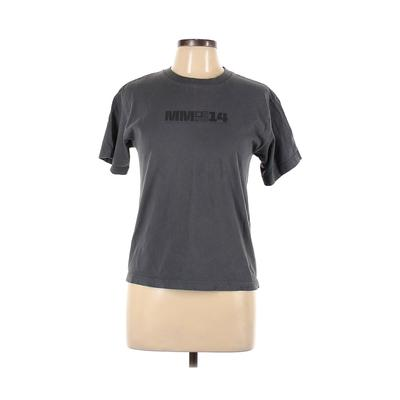 Quiksilver Short Sleeve T-Shirt: Gray Graphic Tops - Size Large