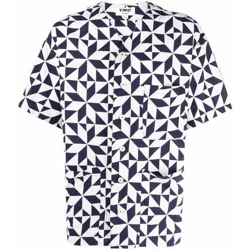 YMC Hemd mit geometrischem Print