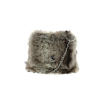 Fashion Express - Fashion Express Crossbody Bag: Gray Solid Bags