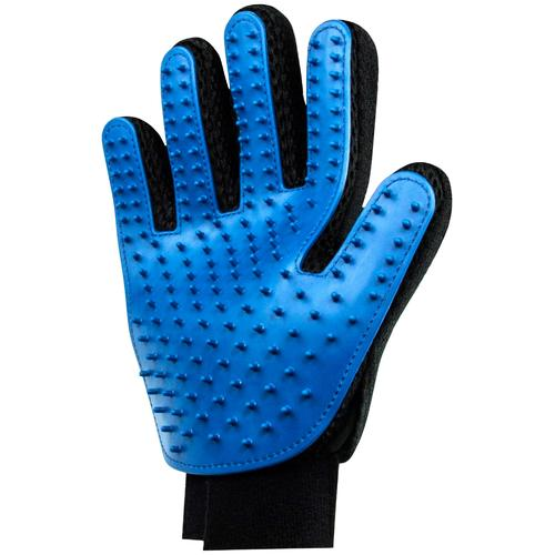 HEIM Fellpflegehandschuh, Gummi, 2 Stk. blau Fellpflegehandschuh Hundepflege Hund Tierbedarf