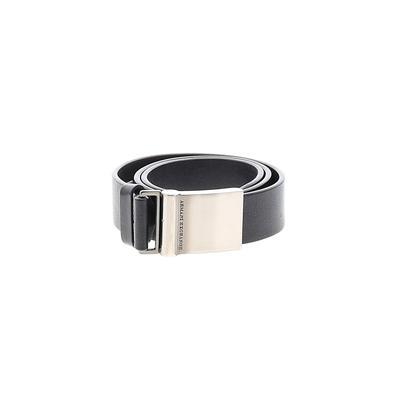 Armani Exchange - Armani Exchange Leather Belt: Black Solid Accessories - Size 30