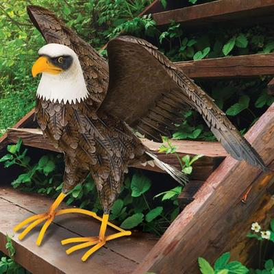 Noble Bald Eagle Sculpture Multi Earth , Multi Earth