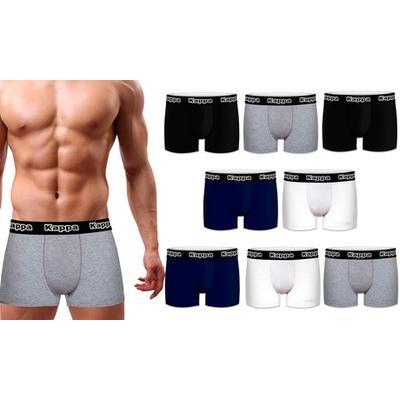 T700-1-X-Set of 4 Kappa boxers (black/gray/blue/white)-Size:XL
