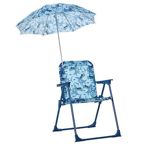 Kinder-Campingstuhl mit Sonnenschirm blau