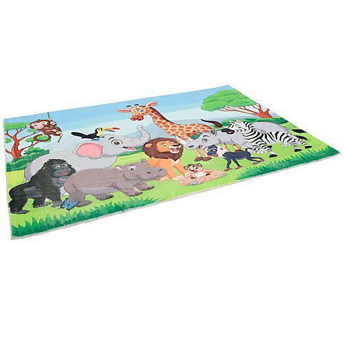 Fellteppich Plush Kids Dschungel Family Teppiche bunt
