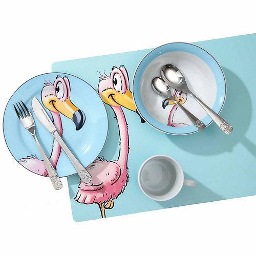 HAPPY ZOO Kindergeschirr Set Flamingo 8-teilig Kindergeschirrsets bunt