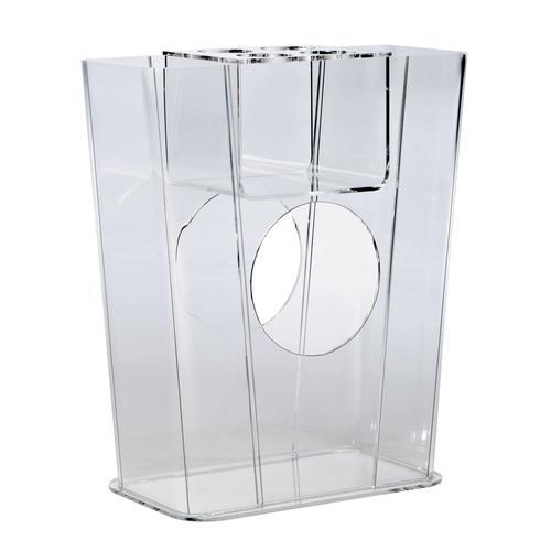 Hochwertiger Acryl-Glas Regenschirmständer, klar, 41 x 19 cm, H 50 cm, Acryl-Glas-Stärke 5 mm