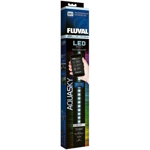 FLUVAL LED Aquariumleuchte FL AquaSky 2.0, 75-105 cm, 21 W schwarz Aquarium-Beleuchtung Aquaristik Tierbedarf