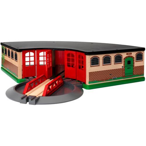 BRIO Spielzeugeisenbahn-Gebäude WORLD Großer Ringlokschuppen, FSC - schützt Wald weltweit bunt Kinder Kindereisenbahnen Autos, Eisenbahn Modellbau