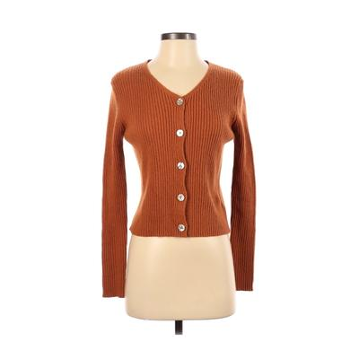 ASM ANNA Pullover Sweater: Brown Solid Tops – Size X-Small