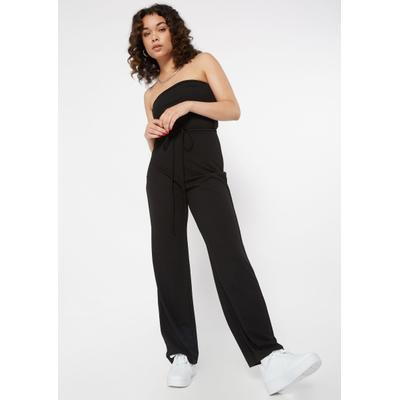 Rue21 Womens Black Strappy Back Tube Jumpsuit - Size L