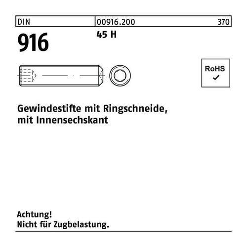 Gewindestift DIN 916 Ringschn./Innen-6-Kant M 24 x 100 45 H - Diverse