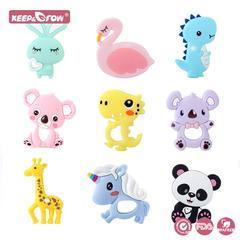 Keep & Grow – anneau de dentition en Silicone, 1 pièce, sans BPA, jouets pour bébé, Koala Panda