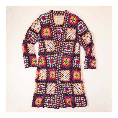 Granny Square Crochet Duster