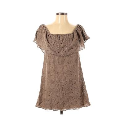 Show Me Your Mumu Casual Dress - A-Line: Brown Solid Dresses - Used - Size Small