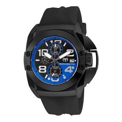 TechnoMarine Black Reef 45mm watch with Black Black+Blue dial VK67 Quartz - Model TM-515016