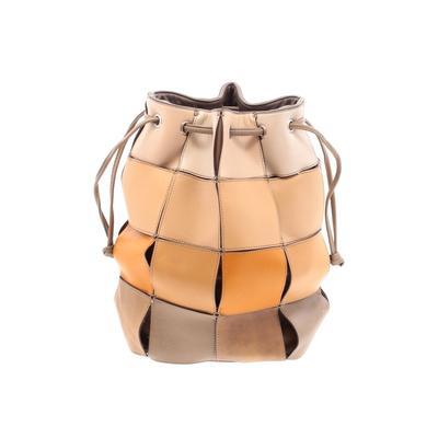 CNI Fashions - CNI Fashions Leather Crossbody Bag: Tan Solid Bags