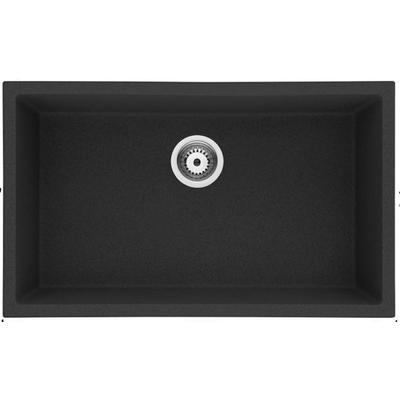 30-in. W CSA Approved Black Granite Composite Kitchen Sink With Granite Composite Finish And 16 Gauge - American Imanginations AI-29198