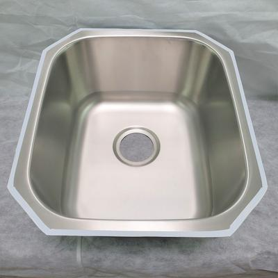 17-in. W CUPC Approved Brushed Nickel Kitchen Sink With Brushed Nickel Finish And 18 Gauge - American Imagination AI-29366