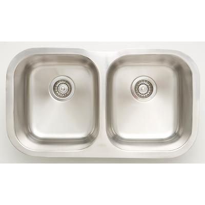30.75-in. W CSA Approved Stainless Steel Kitchen Sink With Stainless Steel Finish And 18 Gauge - American Imagination AI-27645