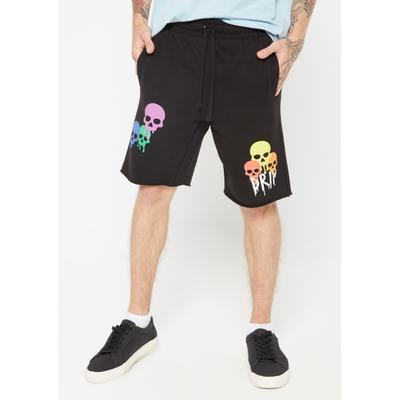 Rue21 Mens Black Skull Drip Graphic Sweat Shorts - Size M