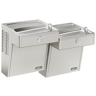 Elkay LVRCTL8SC Wall Mount Bi Level Drinking Fountain - Filtered, Refrigerated, Stainless