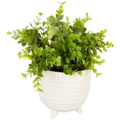 Siena Floral 10'' Eucalyptus Pot Decor