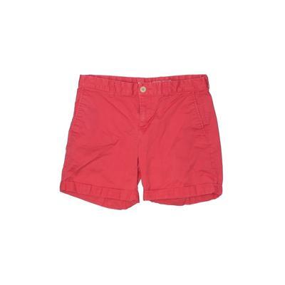 Gap Khaki Shorts: Red Solid Bott...