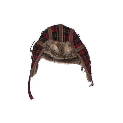 True Religion Winter Hat: Tan Plaid Accessories - Size Large