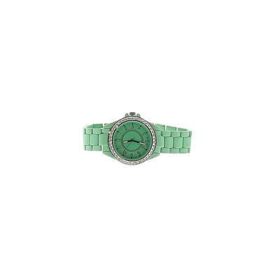 Watch: Green Solid Accessories
